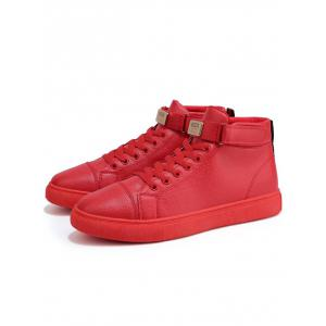 Hook and Loop High Top Casual Shoes -
