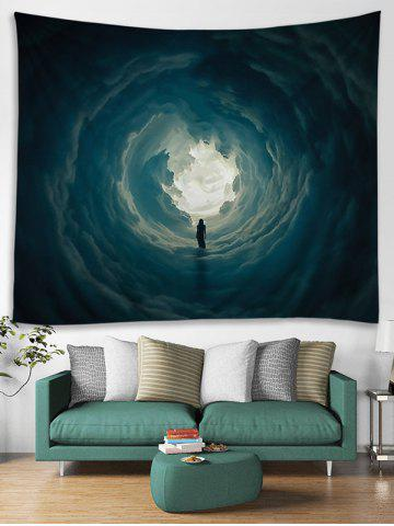 Shops Secret Woman in Cloud Hole Printed Wall Art Tapestry