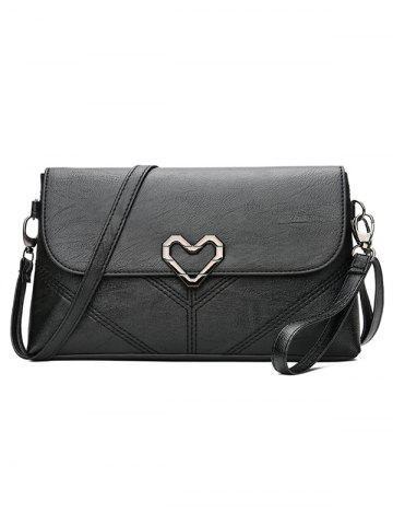 Sale Quilted Stitches Metallic Heart Crossbody Bag