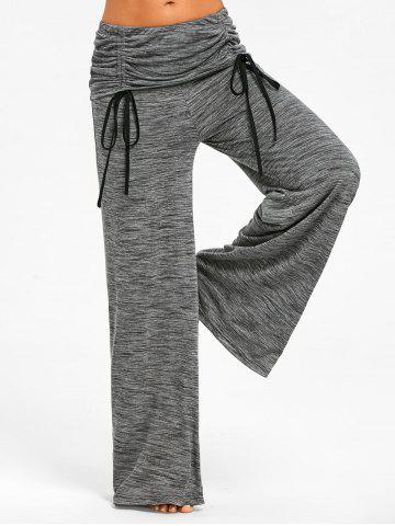 Shop Ruched Waisted Wide Leg Pants