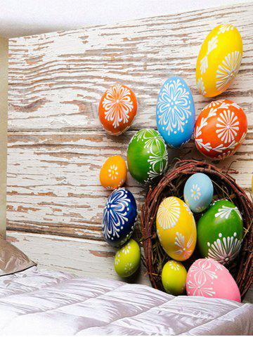 Online Colorful Egg Shaped Stones Printed Wall Decor Tapestry