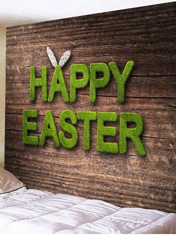 Shops Happy Easter Letters Printed Tapestry Wall Decor