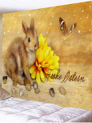 Discount Rabbit Flower Butterfly Printed Wall Art Tapestry