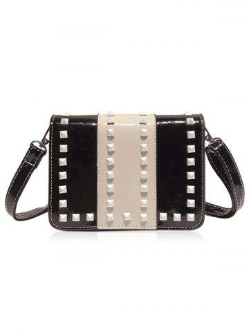 Hot Studs Contrasting Color Crossbody Bag