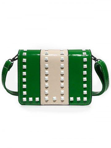 Outfits Studs Contrasting Color Crossbody Bag