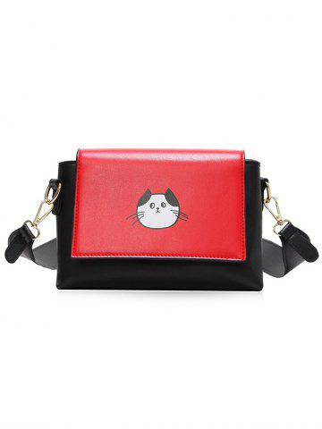 Sale Color Block Flap Crossbody Bag