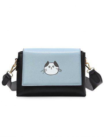 Online Color Block Flap Crossbody Bag