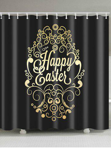 New Happy Easter Designed Print Waterproof Shower Curtain
