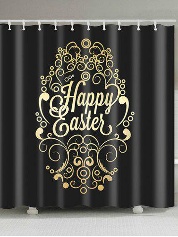 Affordable Happy Easter Designed Print Waterproof Shower Curtain