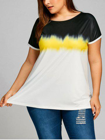Hot Plus Size Short Sleeve Ombre T-shirt