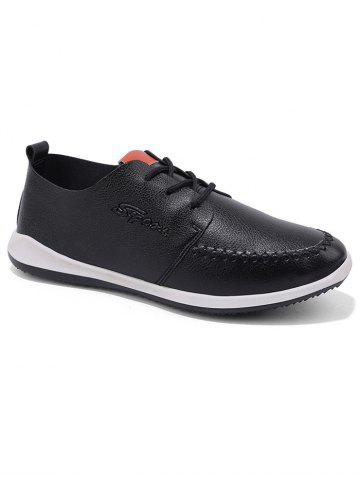Online Stitch Toe Faux Leather Casual Shoes