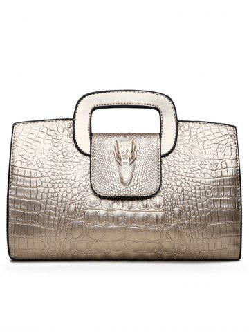 Shops Embossed PU Leather Tote Bag
