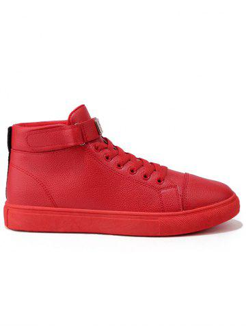 Sale Hook and Loop High Top Casual Shoes