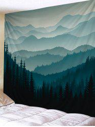 Wall Hanging Art Mountain Forest Printed Tapestry -
