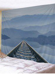 Mountain Railway Print Tapestry Wall Hanging Art -