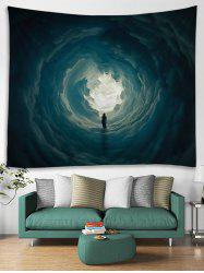 Secret Woman in Cloud Hole Printed Wall Art Tapestry -