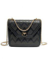 PU Leather Rivets Shopping Crossbody Bag -