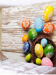 Colorful Egg Shaped Stones Printed Wall Decor Tapestry -