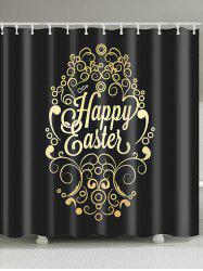 Happy Easter Designed Print Waterproof Shower Curtain -