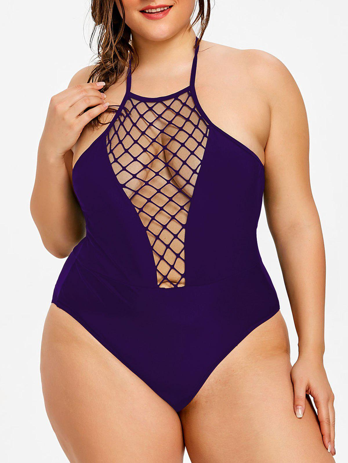 Outfits Plus Size Halter Neck One Piece Swimwear