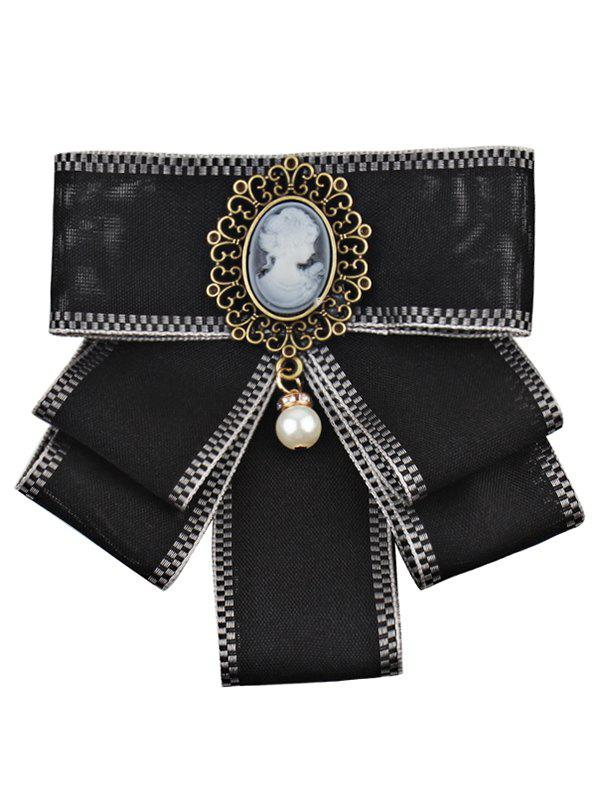 Fashion Elegant Woman and Faux Pearl Decorated Brooch
