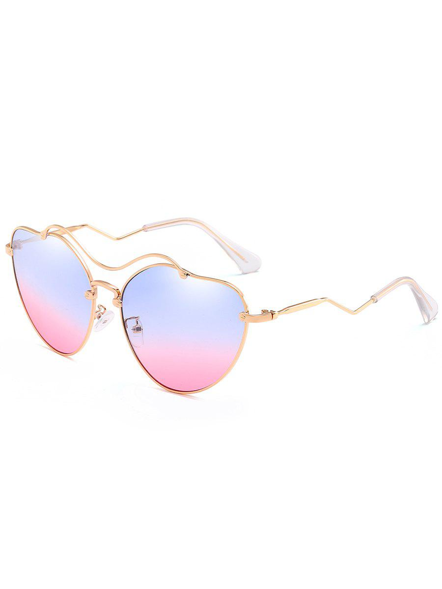 Shop Irregular Heart Shaped Sun Shades Sunglasses