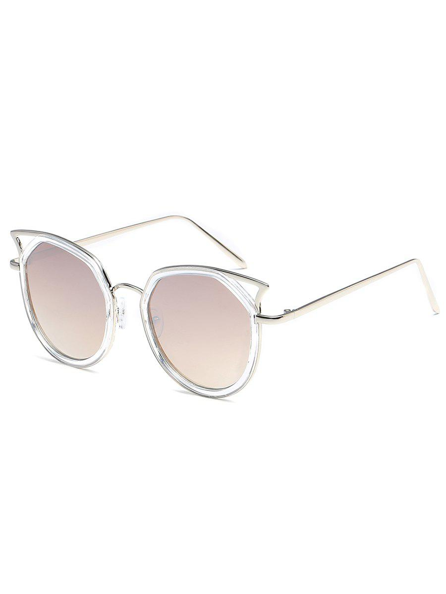 Chic Hollow Out Pattern Metal Full Frame Driver Sunglasses
