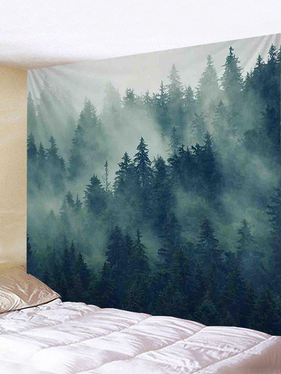 Cheap Forest Morning Mist Print Wall Art Tapestry