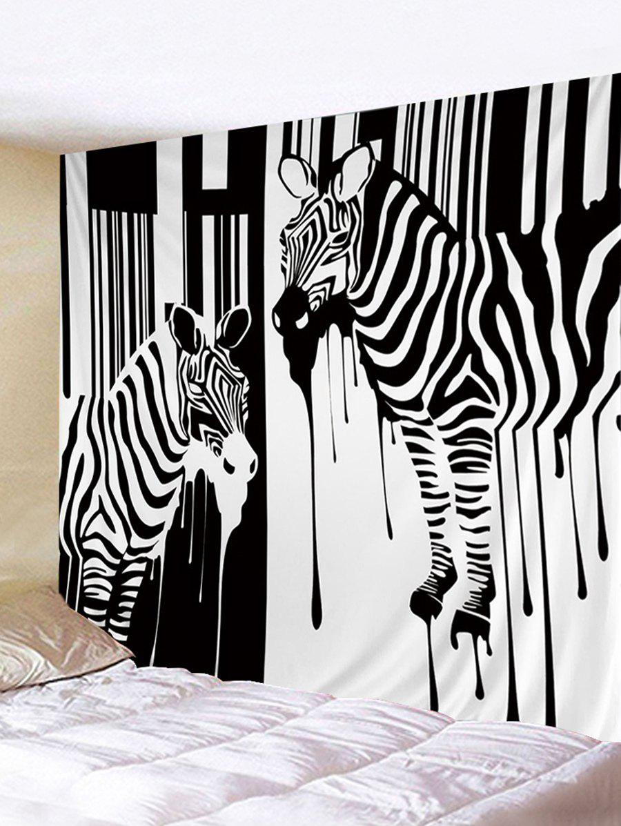Trendy Two Zebras Print Wall Hanging Art Tapestry