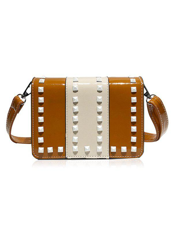 Store Studs Contrasting Color Crossbody Bag