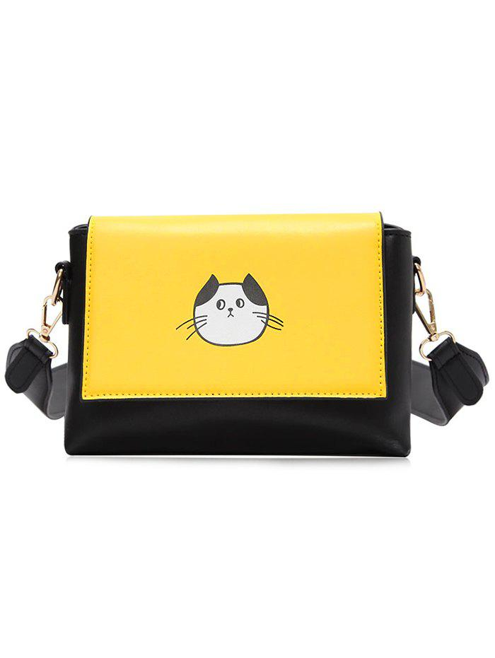 Store Color Block Flap Crossbody Bag