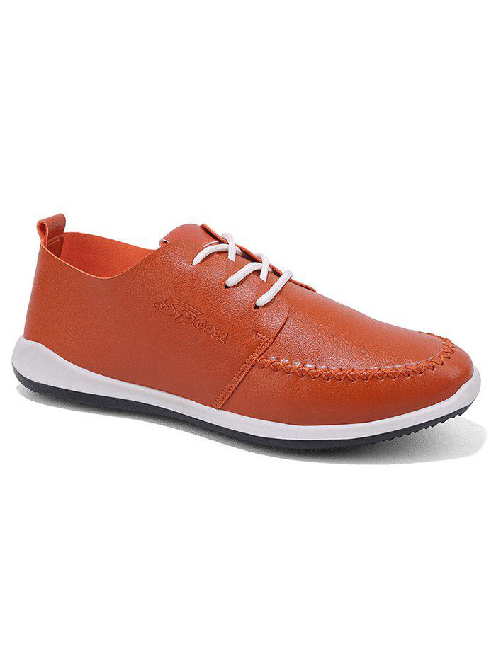 Buy Stitch Toe Faux Leather Casual Shoes