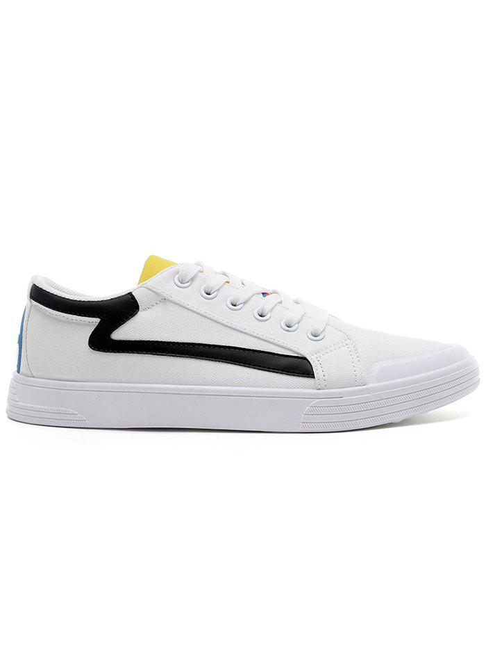 Cheap Canvas Contrasting Skate Shoes
