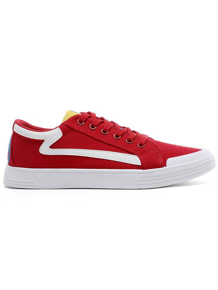 Fancy Canvas Contrasting Skate Shoes