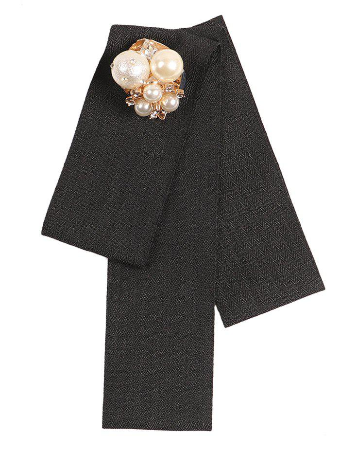 Best Artificial Pearl Rhinestone Geometric Tie Brooch