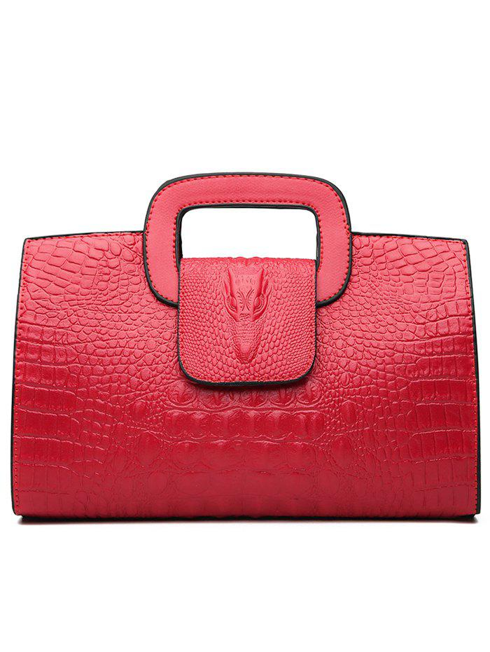 Shop Embossed PU Leather Tote Bag