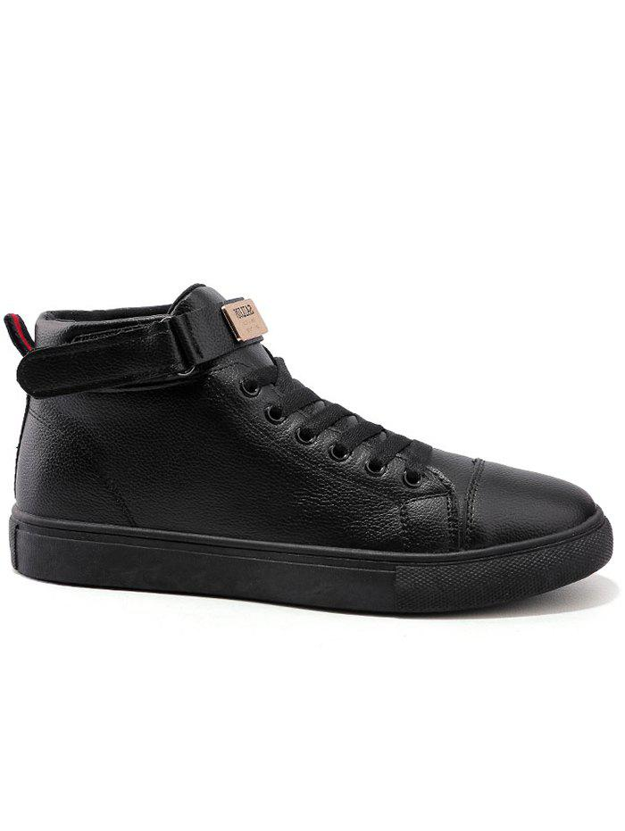 Online Hook and Loop High Top Casual Shoes