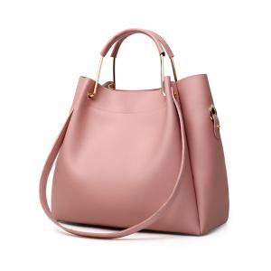 PU Leather Tote Satchel Purse Hand Bag 4 Pieces Set -