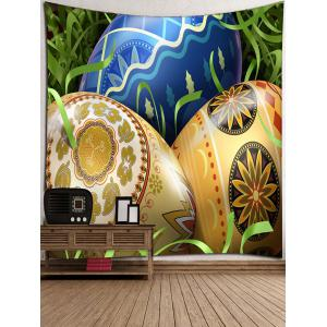 Colorful Easter Eggs Printed Wall Hanging Art Tapestry -
