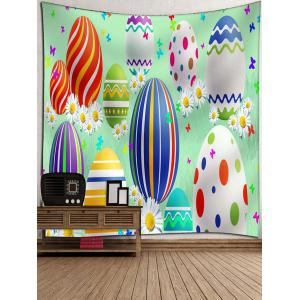Cartoon Easter Egg Print Wall Tapestry -