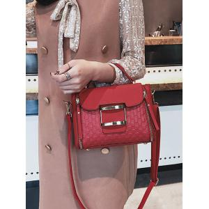 Bowknot Embossed Matte PU Leather Crossbody Bag -