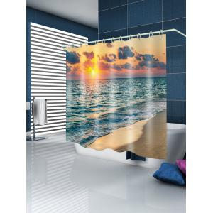 Sunset Seabeach Pattern Waterproof Bathroom Shower Curtain -