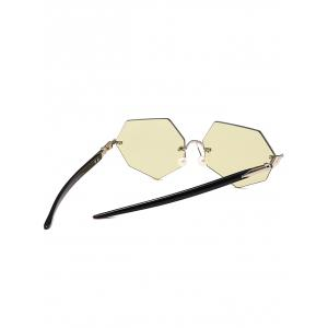 Anti UV Irregular Rimless Lens Pearl Sunglasses -