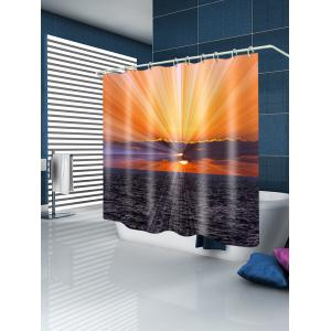 Sunset Ocean Print Waterproof Bathroom Shower Curtain -