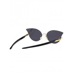 Anti UV Rimless Pearl Driver Sunglasses -