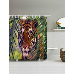 Tiger Print Waterproof Bathroom Shower Curtain -