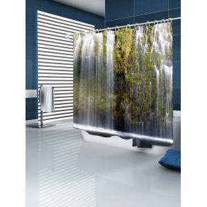 Waterfalls Print Waterproof Shower Curtain -