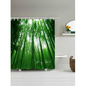 Bamboo Forest Pattern Waterproof Bathroom Shower Curtain -