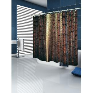 Straight Tree Branch Bathroom Shower Curtain -