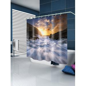 Sunset Torrent Pattern Waterproof Bathroom Shower Curtain -